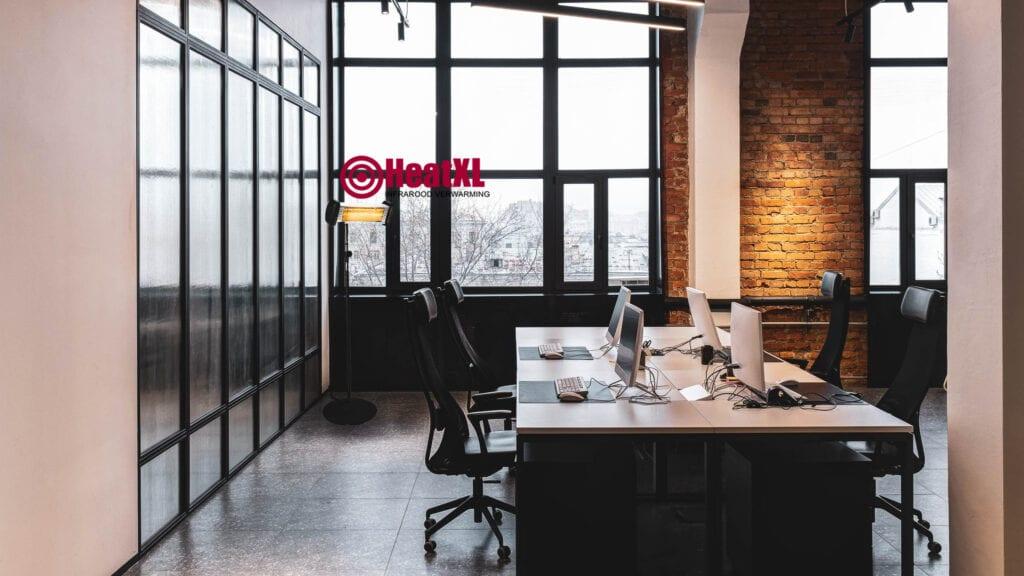 Mobiele kachel bedrijfspand, kantoor en industrie
