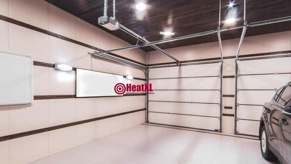 garage infrarood verwarming muur